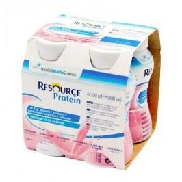 RESOURCE® Protein jahoda 4x200 ml