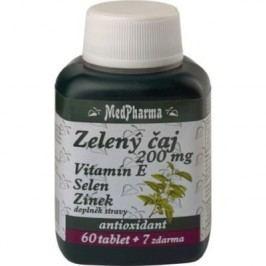 Medpharma Zelený čaj + vitamin E + Selen + Zinek 67 tablet