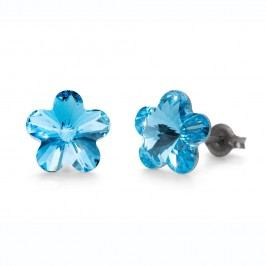 Náušnice Violet aquamarine
