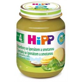 HIPP ZELENINA BIO Špenát s brambory a smetanou 125g