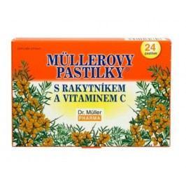 Dr.Müller Müllerovy pastilky s rakytníkem a vitaminem C 24 pastilek