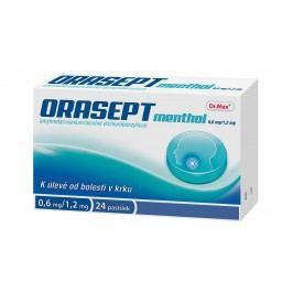 Orasept menthol 0,6 mg/12 mg 24 pastilek