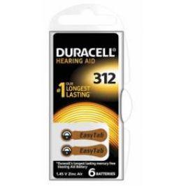 Duracell DA312 Easy Tab baterie do naslouchadel 6 ks