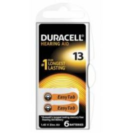 Duracell DA13 Easy Tab baterie do naslouchadel 6 ks