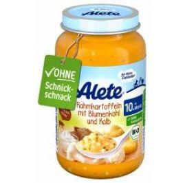 Alete BIO Příkrm brambory + květák + telecí 10m+ 220 g