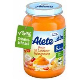 Alete BIO Příkrm zelenina + těstoviny + vepřová šunka 6m+ 190 g