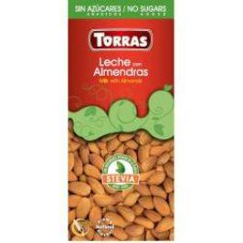 Torras Leche Milk čokoláda s mandlemi a stévií 125 g