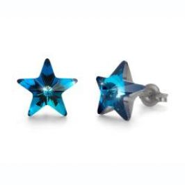 Náušnice Star metallic blue