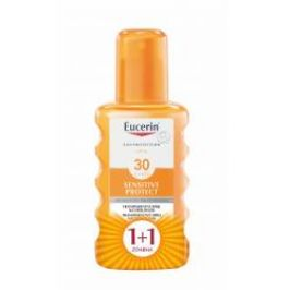 Eucerin SUN Sensitive Protect SPF30 transparentní sprej 2x200 ml 1+1 ZDARMA