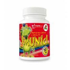 Nutricius Imuníci Hlíva ústřičná s vitaminem D pro děti 30 cucacích tablet