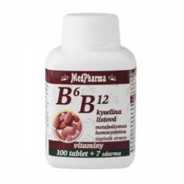 Medpharma B6 + B12 + kyselina listová 107 tablet