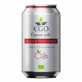 EGO BioLimonáda jablko/černý rybíz plechovka 330 ml