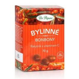 Dr. Popov Bylinné bonbony Rakytník s vitamínem C 70 g