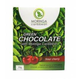 Moringa Čokoláda bílá s moringou a višněmi 70 g