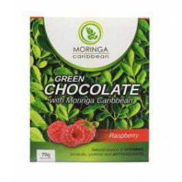 Moringa Čokoláda bílá s moringou a malinami 170 g