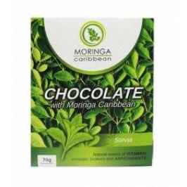 Moringa Čokoláda hořká s moringou a stevií 70 g