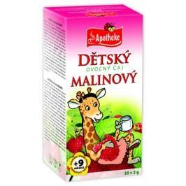 Apotheke Dětský ovocný čaj malinový nálevové sáčky 20x 2 g