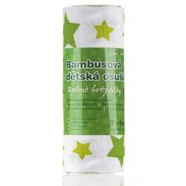 T-tomi Bambusová BIO osuška 1 ks zelené hvězdičky
