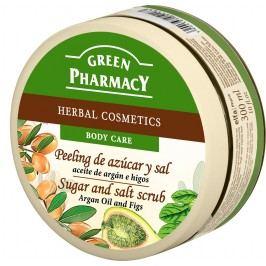 Green Pharmacy Arganový olej a Fíky cukrový peeling se solí 300 ml