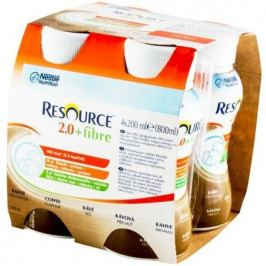 Resource 2.0kcal Fibre Kávový por.sol.4x200ml