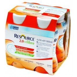 Resource 2.0kcal Fibre Meruňkový por.sol.4x200ml