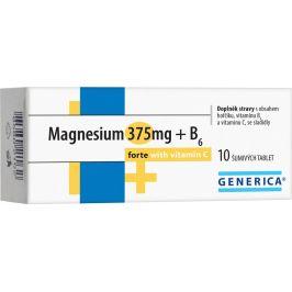 Generica Magnesium 375mg+B6 forte s vitaminem C 10 šumivých tablet