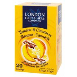 Čaj Banán se skořicí n.s.20x2g LONDON HERB