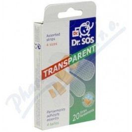 Náplasti Dr.SOS Transparent.voděod.elast. mix 20ks