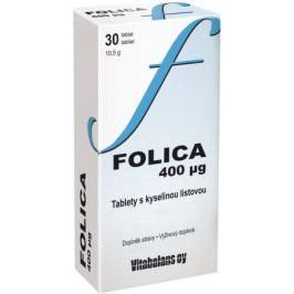 Folica 400ug -tablety s kyselinou listovou tbl.30