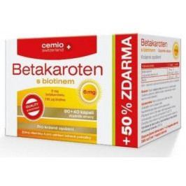 Cemio Betakaroten 6 mg s biotinem cps.80+40 ČR/SK