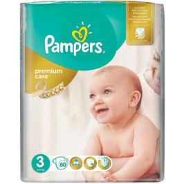 PAMPERS Premium Care Midi 5-9kg dětské pleny 80ks