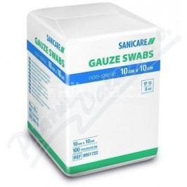 Gáza kompresy nesterilní 7.5x7.5cm/100ks 17vl.8vr.