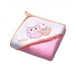 Osuška s kapucí Velour100x100 - pink