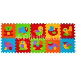 Puzzle pěnové zvířátka 10ks, 6m+