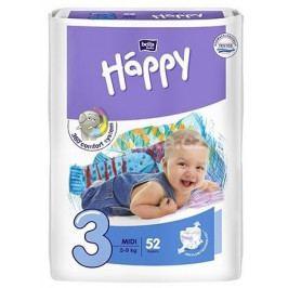 Happy Midi dětské pleny 52 ks