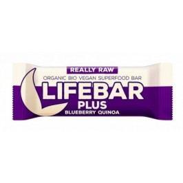 Lifebar Plus tyčinka borůvková quinoa BIO 47 g Lifefood