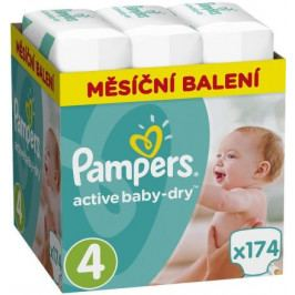 Pampers Active Baby Monthy Box S4 174ks