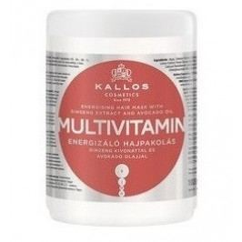 Oživující maska na vlasy s multivitamíny (Multivitamin with Ginseng Extract and Avocado Hair Mask) - Objem: 1000 ml