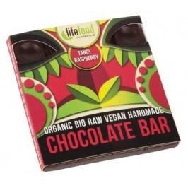 Raw čokoláda z nepraženého kakaa BIO malinová 35g