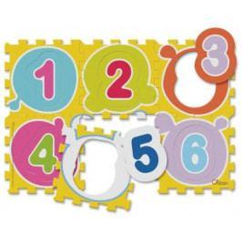 Pěnové puzzle Čísla 30x30 cm, 6 ks
