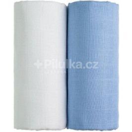 Látkové TETRA osušky 100 x 90, sada 2 ks, bílá + modrá