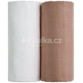 Látkové TETRA osušky 100 x 90, sada 2 ks, bílá + béžová