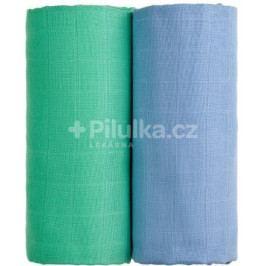 Látkové TETRA osušky 100 x 90, sada 2 ks, modrá + zelená