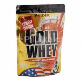 Gold Whey, syrovátkový protein, Weider, 500 g, Jahoda