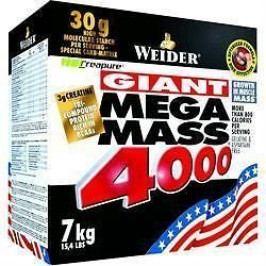 Weider, Giant Mega Mass 4000, Gainer, 7000 g, Jahoda