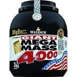 Weider, Giant Mega Mass 4000, Gainer, 3000 g, Jahoda