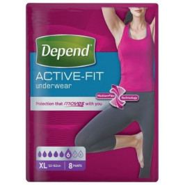 Inkont.kalh.abs.DEPEND Active-Fit XL pro ženy 8ks