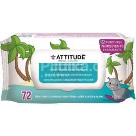 Vlhčené ubrousky Attitude bez vůně (72 ks)