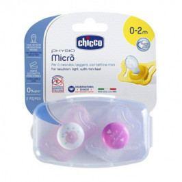 Šidítko Physio Micro, silikonové, 0-2M +, růžová, 2ks