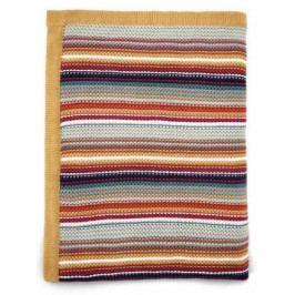 Pletená deka barevné proužky
